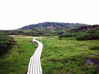 センジケ原からみた県営光岳小屋