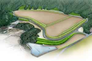 下野部工業団地の完成イメージ