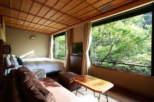 客室 半露天付和洋室(川沿い)