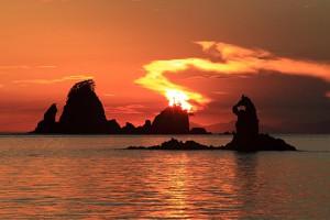田子島夕陽