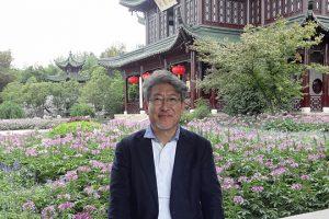 中国講演の際、立ち寄った楊州市痩西湖公園にて