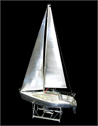 完全切削 アルミ製ヨット