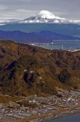久能山と富士山