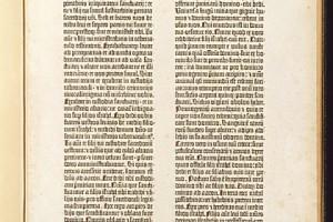 グーテンベルク『42行聖書』(原葉)