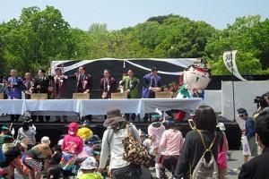 H27.04.25 家康公四百年祭ミドルイベント餅投げ